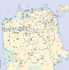 Sf Bart Map Neighborhood Map Of San Francisco Michigan Map