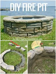 Firepit Blocks Remodelaholic Diy Retaining Wall Block Pit