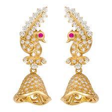 kerala style jhumka earrings josco jewellers