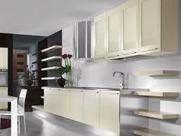 White Glass Kitchen Cabinets by Alluring Modern Style Kitchen Cabinets With Large Black Glass