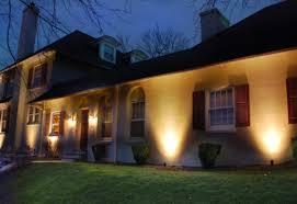 House Landscape Lighting Evening Shadows Lighting