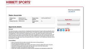 hibbett sports job application resume builder