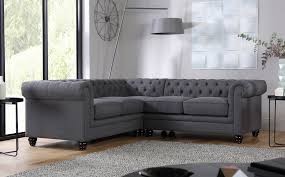 Hampton Slate Fabric Chesterfield Corner Sofa Only - Cornor sofas