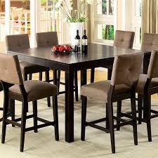 High Dining Room Sets Home Design Industrial Counter Height Dining Table Rustic