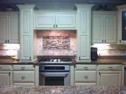 stove backsplash ceramic countertop tile island cabinets design