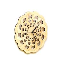 Wooden Wall Clock by Octopus Contemporary Stylish Laser Cut Wooden Wall Clock