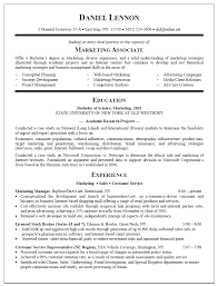 Resume Format For Sales And Marketing Manager Professional Cv Samples Media