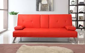 Leather Sofa Colours by Cinema Style Futon Sofabed With Drinks Table Sofa Bed Faux Leather