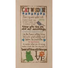 bucilla counted cross stitch picture kits cat wisdom 45851