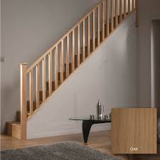 Oak Banisters Square Oak 32mm Complete Banister Project Kit Departments Diy