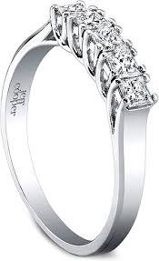 Princess Cut Wedding Ring by Jeff Cooper Eternal Collection Princess Cut Wedding Band 4016b