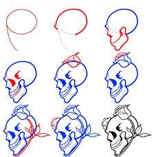 25 draw skulls ideas simple skull