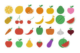 fruits and vegetables icons creative market