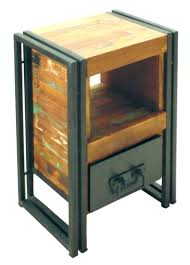 Metal Nightstands With Drawers Small Stands Narrow Bedside Table Stand Bedroom Rustic Wood