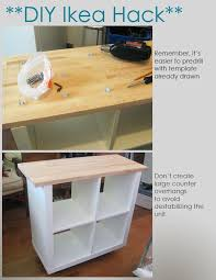 diy ikea kitchen island kitchen fancy diy kitchen island from desk repurposed 1 diy