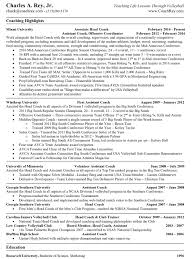 Coaching Resume Samples by Volleyball Coaching Resume Examples Virtren Com