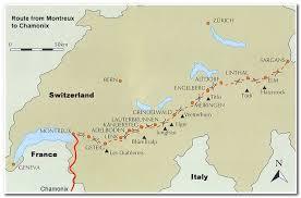 map of montreux dent du midi traverse montreux to chamonix