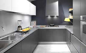 Grey Kitchen Cabinets With Grey Wood Flooring Grey Laminate - Painting laminate kitchen cabinets