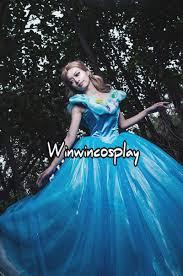 Halloween Costume Cinderella Free Shipping Anime Cinderella Cosplay Costume Cinderella