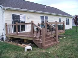 Deck Stair Handrail Height How To Build Deck Stair Railing Translatorbox Stair