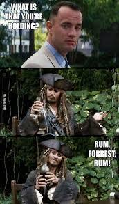 Rum Meme - forrest rum meme