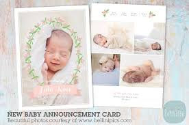 an002 newborn baby card announcement card templates creative