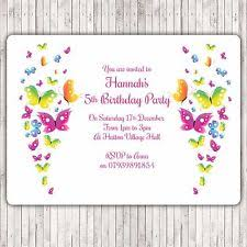 butterflies theme invitation ebay