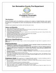 Emt Resume Examples by Firefighter Resume Example Resumes Apparel Prod Coordinator