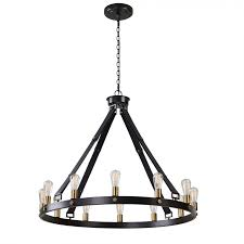 Uttermost Chandeliers Clearance 21280 Marlow 12 Light Circle Chandelier