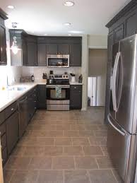 granite countertop grey and white kitchen cabinets camper
