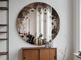 frameless picture hanging frameless antique mirror round hanging wall mirror made with