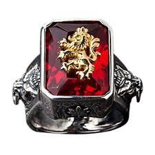 com red rings images Red stone lion ring sterling silver mens garnet ring jpg