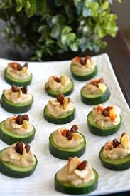 Dinner Party Hors D Oeuvre Ideas Cucumber Hummus Canapé My Signature Dish Yes I Am Vegan