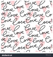 vector seamless love heart shape pattern stock vector 403694944