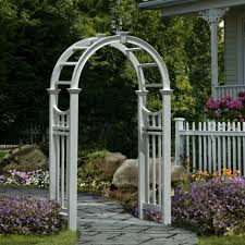 Wedding Arches Ebay Eden Vienna 7 5 Ft Vinyl Arch Arbor White Va68144 Wedding Garden