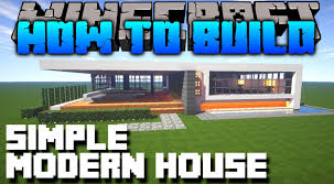 minecraft how to build simple modern house tutorial youtube