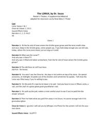 this is a reader s theater script adapted for classroom use only