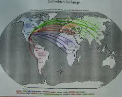 Columbian Exchange Map Colombian Exchange U2013 Mr Goebel U0027s Social Studies 302