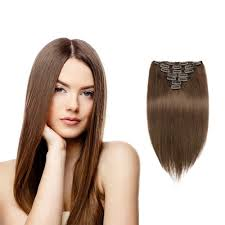 18 inch hair extensions remy clip in hair extensions chocolate brown