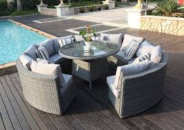 outdoor patio table seats 10 rattan patio table and chairs monaco 10 12 seater round rattan