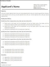 correct format for resume jospar