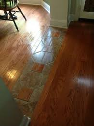 how to mix hardwood and ceramic tile flooring in different rooms