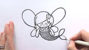 how to draw a cartoon fairy mermaid youtube