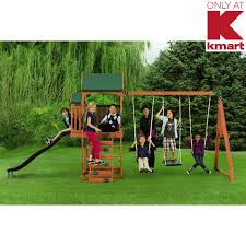 timber play ii swing set backyard playtime fun for kids from