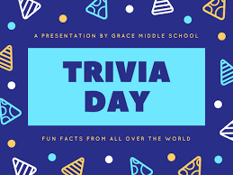 blue yellow funky trivia day presentation templates by canva