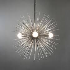 lighting 4 light silver urchin starburst sphere chandelier for