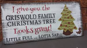 griswold family christmas tree sign national lampoon christmas