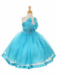 one shoulder sparkle organza dress
