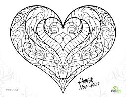 coloring pages heart coloring pages for ideas heart with angel