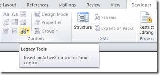 insert a check box in microsoft word 2010